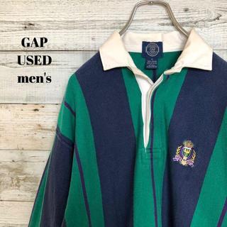 ギャップ(GAP)のGAP ギャップ メンズ 長袖ポロシャツ ストライプ カレッジ  S(ポロシャツ)