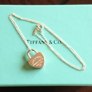 Tiffany & Co. - ティファニー ハート南京錠ネックレス