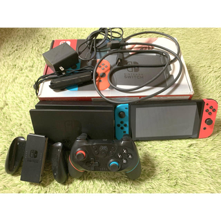 Nintendo Switch - Nintendo Switch 本体 セット 箱付き 別売りコントローラ付き
