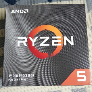 【AMD】 RYZEN5 3600X クーラー付 国内正規品(PCパーツ)