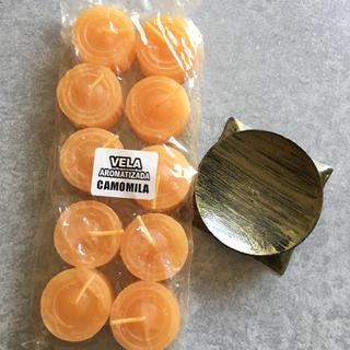 カモミール キャンドル ブラジル製(キャンドル)