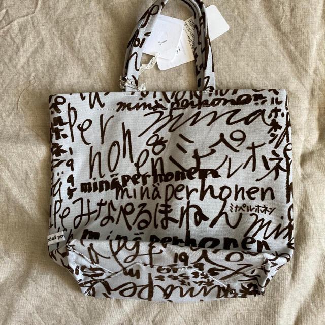 mina perhonen(ミナペルホネン)のミナペルホネン minapeバッグ 小 ライトグレー minape トートバッグ レディースのバッグ(トートバッグ)の商品写真