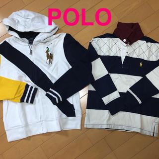 POLO RALPH LAUREN - ポロラルフローレン キッズ パーカ ラガーシャツ 140150美品