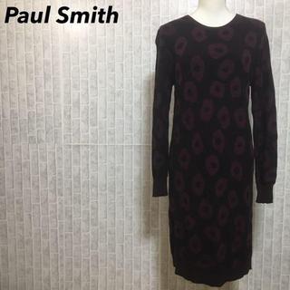 ポールスミス(Paul Smith)のポールスミス ニット ロングワンピース 変形ドット サイズM 薄手(ロングワンピース/マキシワンピース)