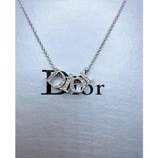 Christian Dior - CD567 未使用【Dior ディオール】ネックレス ストーン シルバー