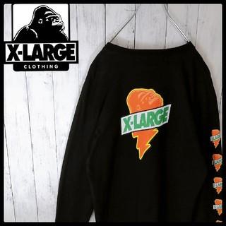 XLARGE - 【エクストララージ×ゲータレード】【バックプリント】【総柄】【長袖Tシャツ】