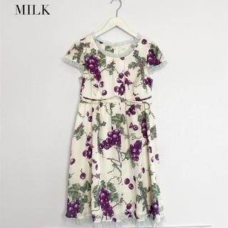 MILK - 【MILK】ぶどう柄 ワンピース ミルク