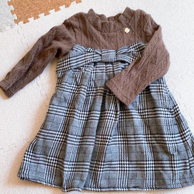 petit main(プティマイン)のプティマイン ワンピース 80サイズ(土日セール価格) キッズ/ベビー/マタニティのベビー服(~85cm)(ワンピース)の商品写真