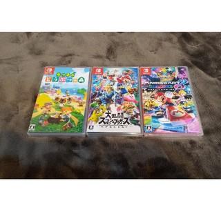 Nintendo Switch - スマッシュブラザーズ マリオカート どうぶつの森 スイッチソフト3本セット