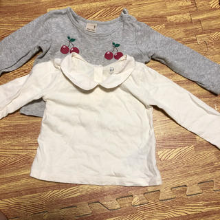 petit main - 長袖Tシャツ2枚セット ロンT 80 プティマイン gap