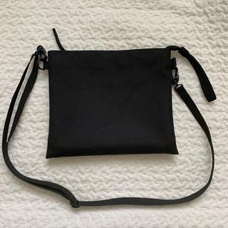 ムジルシリョウヒン(MUJI (無印良品))の無印良品 サコッシュ 黒 ブラック(ボディバッグ/ウエストポーチ)
