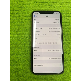 Apple - iPhoneXS 256g softbankシムロック解除済み ジャンク