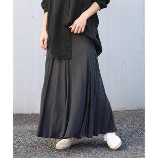 プラージュ(Plage)の未使用 Plage Fibril ギャザーロングスカート  36 ブラック(ロングスカート)