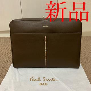 ポールスミス(Paul Smith)の新品 ポールスミス クラッチバッグ ブラウン レザー メンズ ビジネス 鞄 茶色(セカンドバッグ/クラッチバッグ)