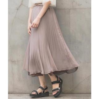 ミスティウーマン(mysty woman)のオーガンジープリーツスカート(ロングスカート)