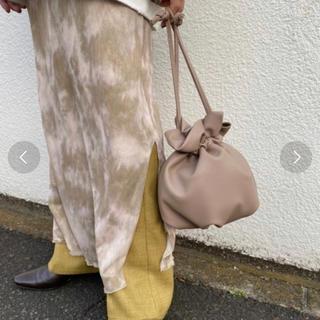 カスタネ(Kastane)のミニレザー巾着(バッグ)