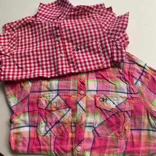 ギリーヒックス(Gilly Hicks)のギリヒク チェックシャツ レディース ピンク(シャツ/ブラウス(長袖/七分))