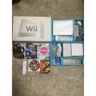 Wii - 任天堂 Wii本体 リモコン ソフト5本セット