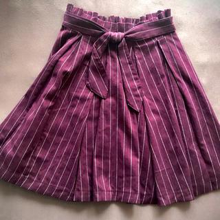 ミスティウーマン(mysty woman)のミスティーウーマン ボルドーストライプスカート(ひざ丈スカート)