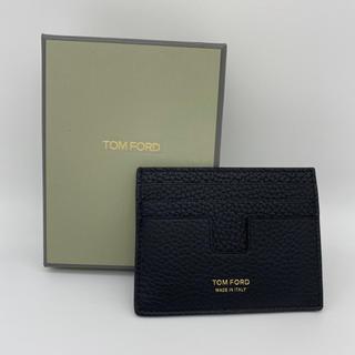 トムフォード(TOM FORD)のトムフォード TOMFORD カードケース ブラック 新品(名刺入れ/定期入れ)