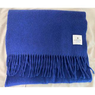 ランバンオンブルー(LANVIN en Bleu)のLANVIN マフラー 青(マフラー/ショール)