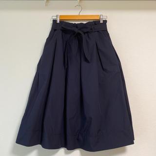 UNIQLO - ユニクロ ハイウエスト ベルテッド フレアミディスカート XL