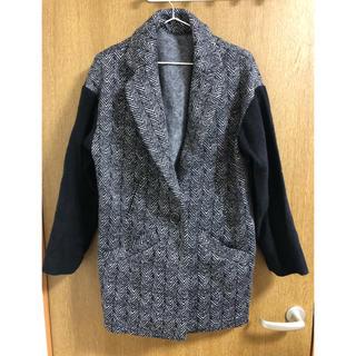 袖切り替えアウター ジャケット(ピーコート)
