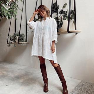 アリシアスタン(ALEXIA STAM)のアリシアスタン♡Stand Collar Shirt Dress(ひざ丈ワンピース)