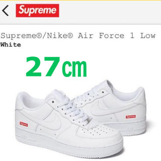 Supreme - SUPREME NIKE AIR FORCE 1 LOW WHITE 27㎝