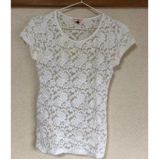 Tシャツ レーストップス カットソー(Tシャツ(半袖/袖なし))