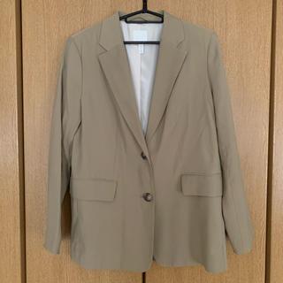 エイチアンドエム(H&M)のテーラードジャケット カーキベージュ(テーラードジャケット)