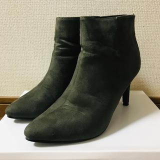 ショートブーツ カーキ(ブーツ)