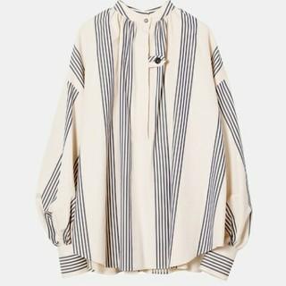 ルシェルブルー(LE CIEL BLEU)の今季即完売★アイレネ★Buffant Sleeve Shirt (Stripe)(シャツ/ブラウス(長袖/七分))
