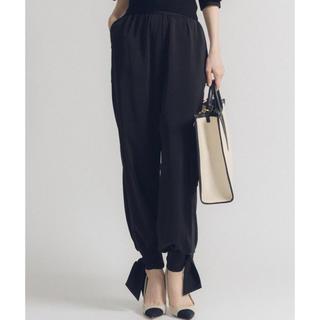 la belle Etude - la belle etude 裾リボンGパンツ ブラック