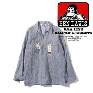 ベンデイビス(BEN DAVIS)のベンデイビス ハーフジップ長袖ワークシャツ 米国製 BDUS-208(シャツ)