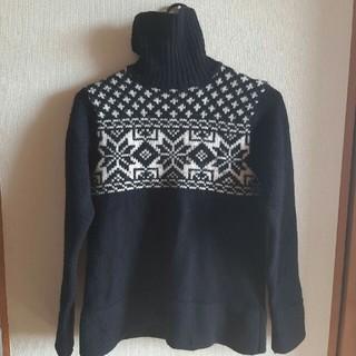 メンズメルローズ(MEN'S MELROSE)のメンズメルローズ セーター サイズ3 黒 ウール(ニット/セーター)
