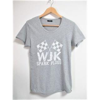 ダブルジェーケー(wjk)の☆wjk reluxe ダブルジェーケー リラックス ロゴプリント Tシャツ/S(Tシャツ/カットソー(半袖/袖なし))