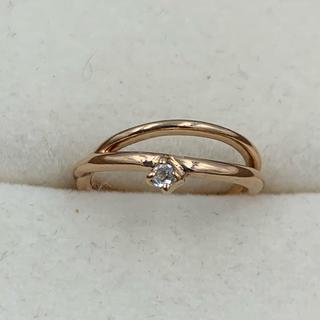 アガット(agete)のagete アガット 1Pダイヤ付き 2連風 ピンキーリング (リング(指輪))