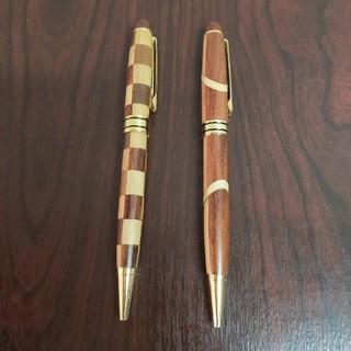寄木細工ボールペン2本