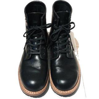 ホーキンス(HAWKINS)の【未使用に近い】大人気♡ 本革ブーツ 27.5cm ブラック(ブーツ)