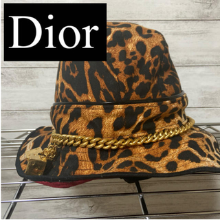 ディオール(Dior)の【DIOR】ヒョウ柄バケットハット(ハット)