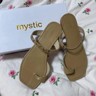 ミスティック(mystic)のmystic フラットトングサンダル ペタンコ リゾート フラットサンダル(サンダル)