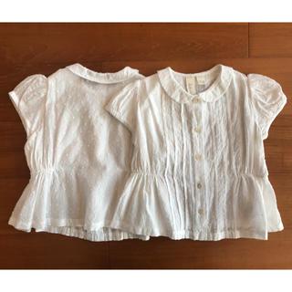 キャラメルベビー&チャイルド(Caramel baby&child )のlittle cotton clothes ブラウス 1着(シャツ/カットソー)
