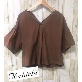 テチチ(Techichi)の綿100% トップス ブラウン❤︎(シャツ/ブラウス(半袖/袖なし))