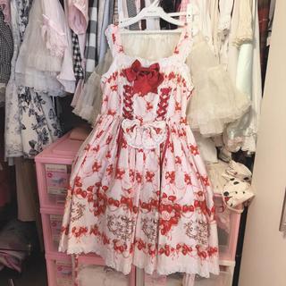 ベイビーザスターズシャインブライト(BABY,THE STARS SHINE BRIGHT)のStrawberry Rose Bouquet JSK 1型 ピンク(ひざ丈ワンピース)