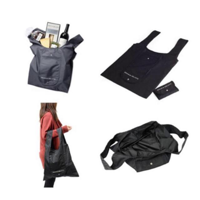 DEAN & DELUCA(ディーンアンドデルーカ)のDEAN&DELUCAエコバッグ ブラック レディースのバッグ(エコバッグ)の商品写真
