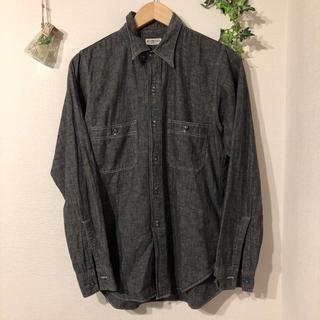 ウエアハウス(WAREHOUSE)のHELLER'S CAFE 黒シャンブレーシャツ チンスト付き(シャツ)