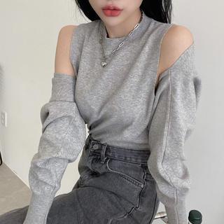 STYLENANDA - 【予約商品】ボレロ風 カーディガン キャミ セット 韓国ファッション 秋服