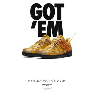 NIKE - 28㎝ Off-White NIKE RUBBER DUNK GOLD ダンク