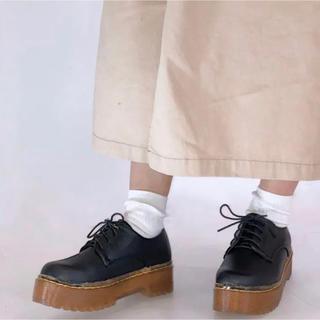 シュガーシュガー(Sugar Sugar)のシュガーシュガー 厚底レースアップシューズ Lサイズ(ローファー/革靴)
